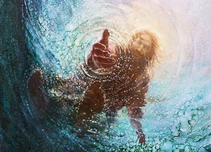 Jesus reaching out